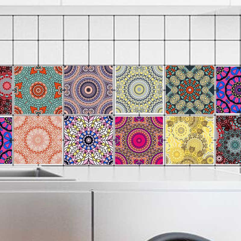 20x100cm PVC Wall Sticker Arabian retro Bathroom Waterproof Self Adhesive Wallpaper Floor Mosaic Tile Stickers for Wall Decal