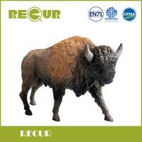 Powtarzać Zabawki Wysokiej Jakości Amerykański bison Simulation Model Ręcznie Malowane Miękkie PCV Figurki Wild Animal Toy Gift Collection