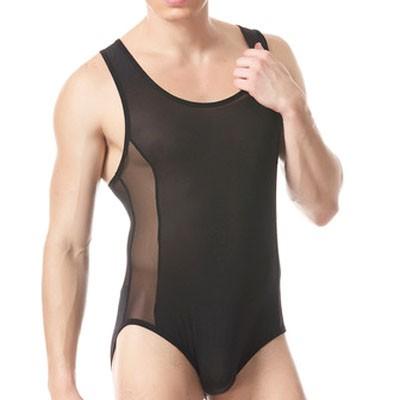 Brand-Men-s-Sexy-Underwear-Male-Bodysuits-Jumpsuit-black-white