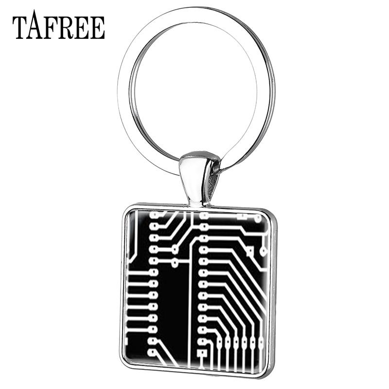 tafree drama doctor cyberpunk steampunk computer circuit board pendant vintage keychain charm