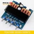 TDA7498 2.1 Класса D 200 Вт + 100 Вт + 100 Вт Цифровой Усилитель Доска Лучше, Чем TPA3116/DC24V-32V