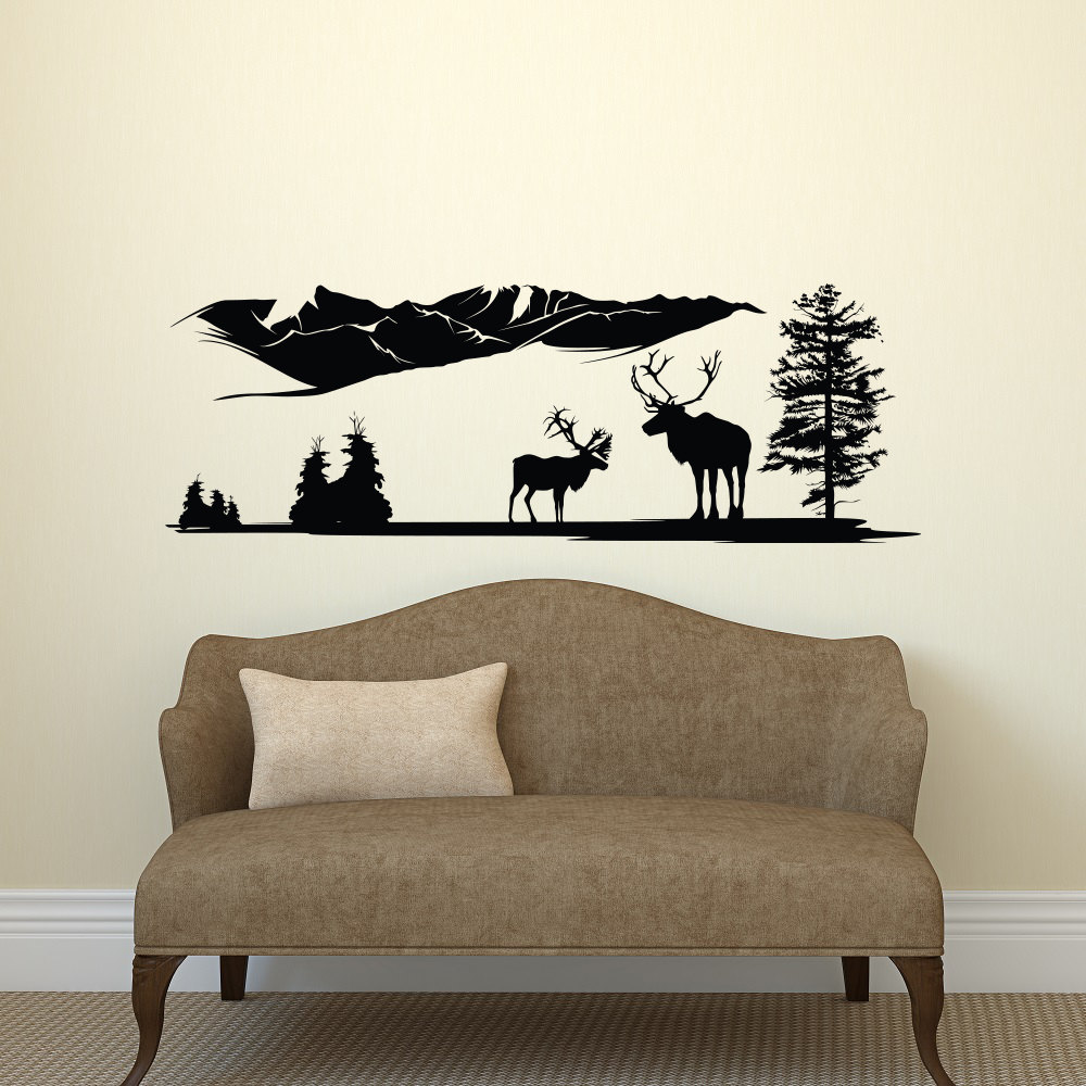 online get cheap adhesive wall murals aliexpress com alibaba group wall stickers grassland mountain field animals home decor living room wallpaper removable adhesives wall mural decal