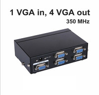 MT VIKI 350Mhz VGA Video Splitter Distributor 1 input to 4 Output support 1 PC 4 widescreen LCD Monitors Maituo MT 3504