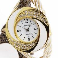 Fashion Luxury Bracelet Watch Women Top Silver Golden Rose Golden Strap Full Steel Quartz Wrist Watch