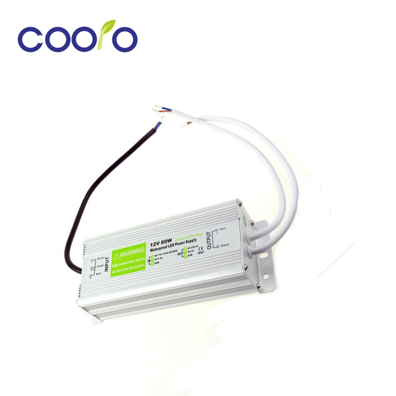 ФОТО DC12V 80W Waterproof ip67 Electronic LED Driver outdoor use power supply led strip transformers adapter,Free shipping