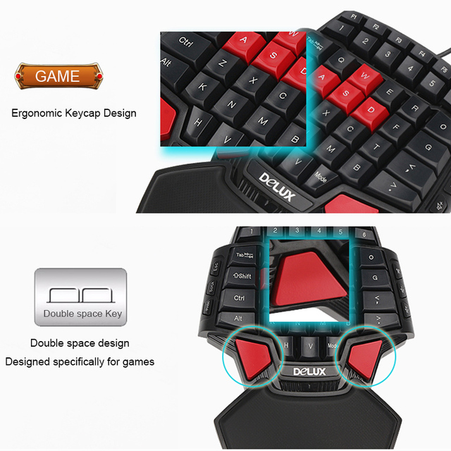 Delux Gamer Gaming T9 Keyboard and Mouse Combo Set 2