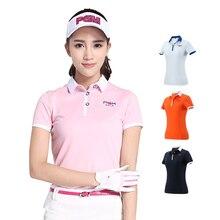 PGM футболка для гольфа для женщин Летняя уличная спортивная одежда мягкая вискозная рубашка с коротким рукавом Нижнее белье Одежда для гольфа