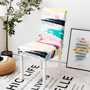 Image 1 - Parkshin Modern Colorful Elastic Dining Chair Slipcover Removable Anti dirty Kitchen Seat Case Stretch Chair Cover For Banquet