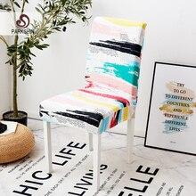 Parkshin Modern renkli elastik yemek sandalyesi Slipcover çıkarılabilir anti kirli mutfak koltuk durumda streç sandalye kılıfı ziyafet için