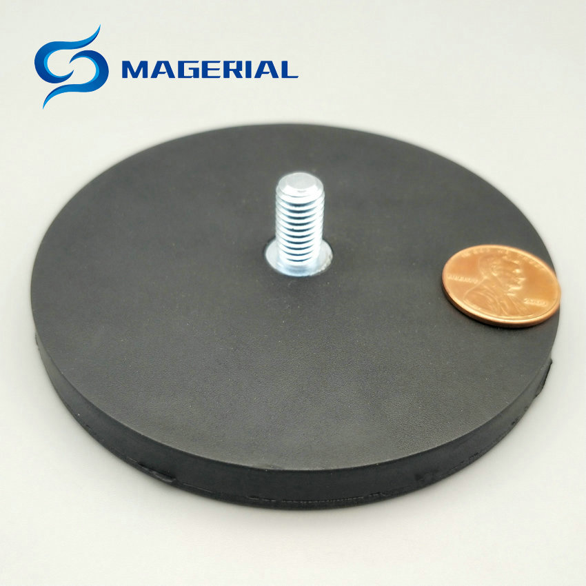 2pcs Mounting Magnetic Disc Diameter 88 mm LED Light Holding Spotlight Holder Male Thread NdFeB Magnet Strong Neodymium Magnet