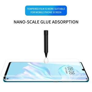 Image 2 - Best Protezione Dello Schermo di Vetro Per Huawei p30 pro P30pro temperato UV di vetro Pieno di Colla Bordo a bordo luce In Vetro Temperato protezione