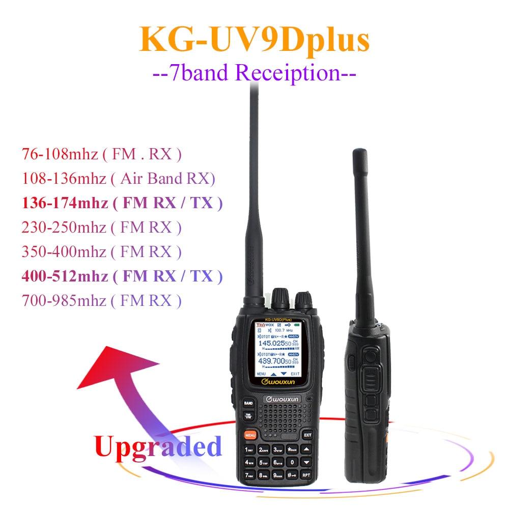 Wouxun KG-UV9D Plus  Vhf Uhf Multi-functional Ham Radio Communciator DTMF 2 Way Raido 7 Bands Walkie Talkie Station For Security
