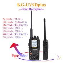 Wouxun KG UV9D Plus vhf uhf çok fonksiyonlu amatör radyo Communciator DTMF 2 yönlü telsiz 7 bantları Walkie Talkie istasyonu güvenlik için