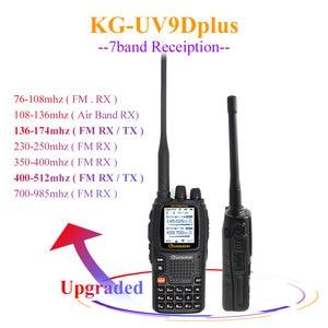 Image 1 - Wouxun KG UV9D Plus vhf uhf wielofunkcyjny Ham Radio Communciator DTMF 2 Way Radio 7 zespołów Walkie Talkie stacji dla bezpieczeństwa