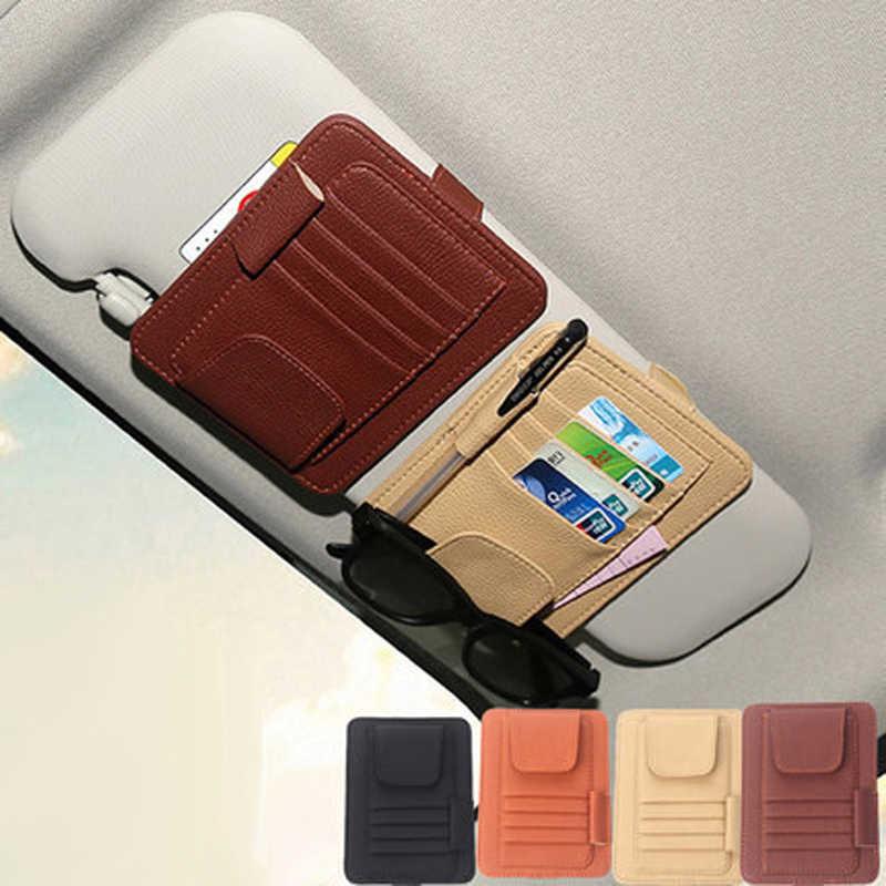 MOQIU авто солнцезащитный Органайзер на щиток сумка для хранения держатель для карт многофункциональная ручка солнцезащитные очки зонтик укладка Tidying 2018