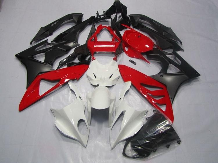 New ABS Fairings For BMW S1000RR 09 12 13 14 1000RR 2009 - 2014 Injection Mold Motorcycle Fairing Kit Bodywork set Red white image