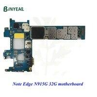 BINYEAE Unlocked Original N915G Main Motherboard Clean Imei 32GB Board For Samsung Galaxy Note Edge N915G