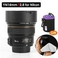 YONGNUO YN14mm F2.8 ультра-широкоугольный главный объектив Автофокус AF MF металлический объектив для Nikon D750 D810 D7200 D850 D610 D760 DSLR