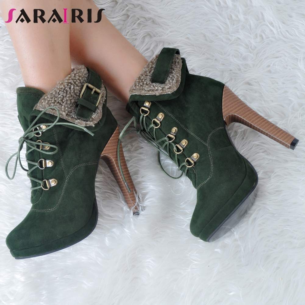 SARAIRIS Brand Design Big Size 35-47 Sexy Ankle Boots Woman Shoes Retro Super High Heels Party Shoes WomanSARAIRIS Brand Design Big Size 35-47 Sexy Ankle Boots Woman Shoes Retro Super High Heels Party Shoes Woman