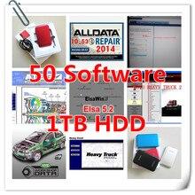 2017 neue Ankunft Alldata und mitchell auf nachfrage 2015 + ElsaWin 5,2 + klare werkstatt + manager ect alle daten 50 in 1 TB HDD auto reparatur