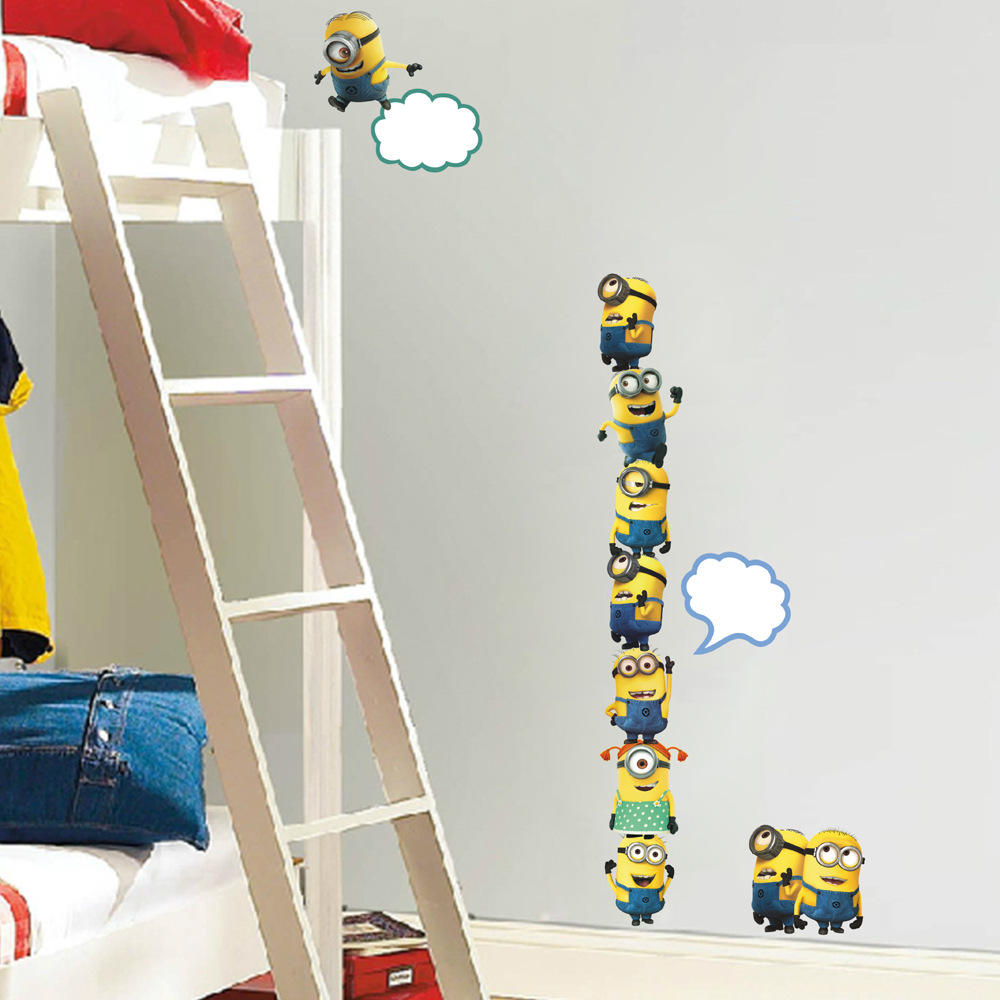 Aliexpress Com Buy Diy New Cartoon Minions Wall Stickers Nursery Kids Baby Room Decor Home Decor Bedroom Decor 2014 Despicable Me 2 Switch Decals From