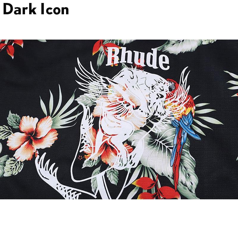 Floral Printed Short Sleeved Shirts Men 2018 Summer Hip Hop Shirts Casual Mens Shirts