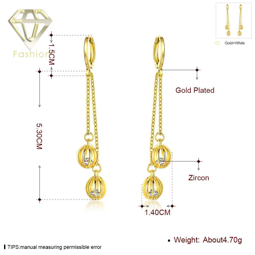 Long Bridal Earrings New Arrival /Rose Gold Color Hanging Double ...