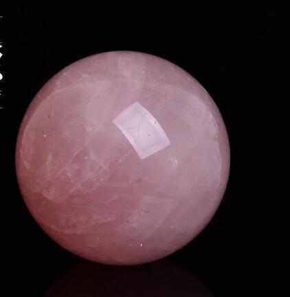 Стразы из розового кварца насадка шар заживление натуральный редкий прозрачный розовый кристалл кварца шар Мода украшение стола удача шар
