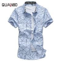 Plus Size 5XL 6XL 7XL New Arrival Summer Geometric Print Casual Shirts Brand Clothing Short Sleeve