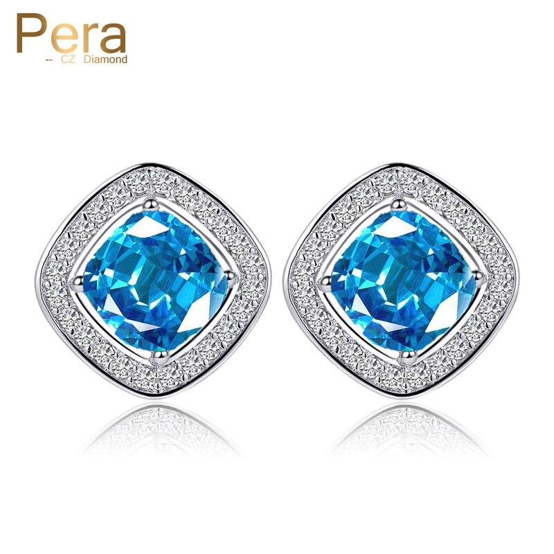 Pera New Arrival Silver Color Jewelry Trendy Big Square Cut