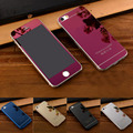 Hotsale 2pcs /set Front + Back Mirror Colors Tempered Glass Protective screen Protector Film For iPhone 4 4S 5 5S SE Full Cover