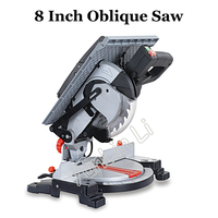 8 Inch Oblique Saw Multi functional Table Cutter Compound Cutting Machine All Copper Motor Miter Saw 92104E