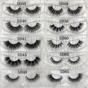 Image 4 - Half 3d Mink Fur Lashes 100% Real Dense 3d Mink False Lash Faux Short Style Strip Eyelashes