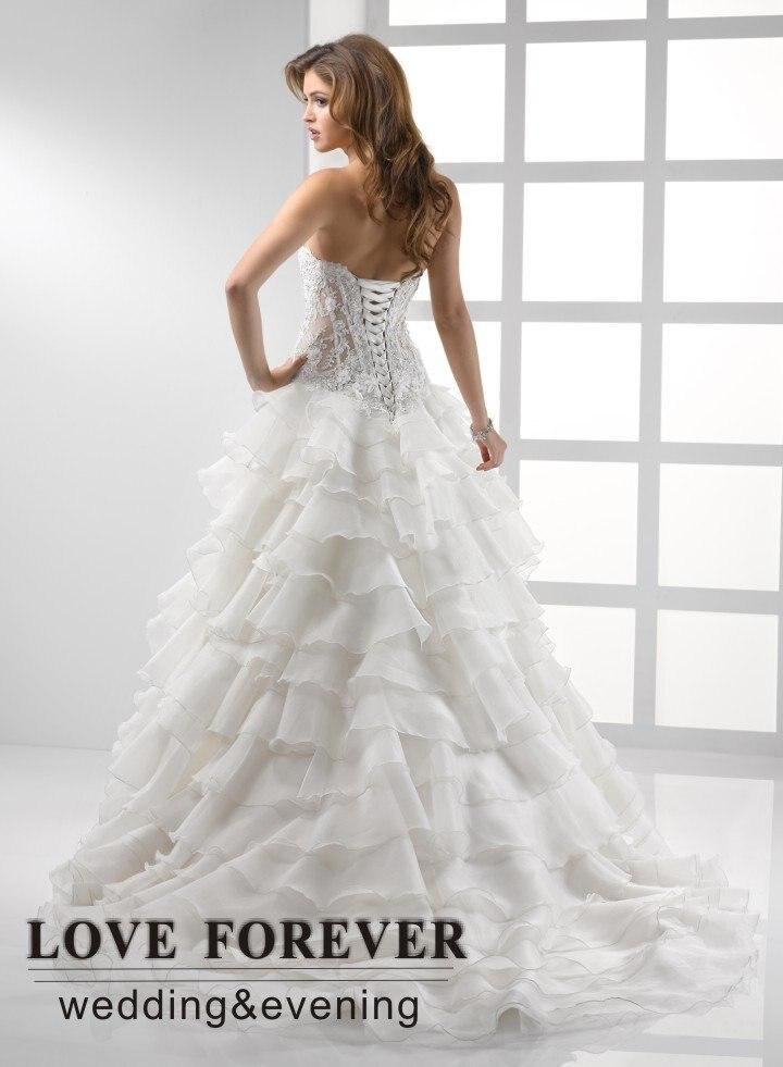 Sheer Lace Corset Wedding Gown - Wedding Dress Ideas