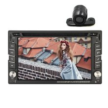 "Universal HD Digital 6.2"" Car DVD Player 2 Din GPS Car Stereo In Dash Car audio Radio Player With Bluetooth/iPod/Rear Camera"