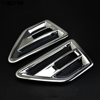 TOMEFON ABS Chrome Door Air Vent Nozzle Cover Trim AC Outlet Matte Trim For Land Rover