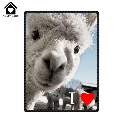CHARMHOME I Love Llama Soft Flannel Fleece Fabric Blankets Sofa Bed Mesmerizing Llama Throw Blanket