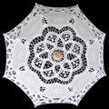 Free Shipping 25cm Radius Handmade Cotton Embroidery White Wedding Lace Parasol for Flower Girl Wedding Decor Wedding Umbrella