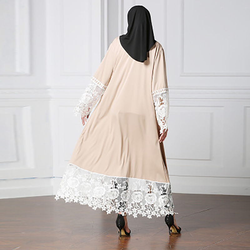 Muslim Women 39 s Cardigan Robe Embroidered Middle Eastern Dress Islamic Costume Turkish Women 39 s Belt Dress in Dresses from Women 39 s Clothing