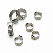 цена на Free shipping High Quality 25 PCS Stainless Steel 304 Single Ear Hose Clamps Assortment Kit Single