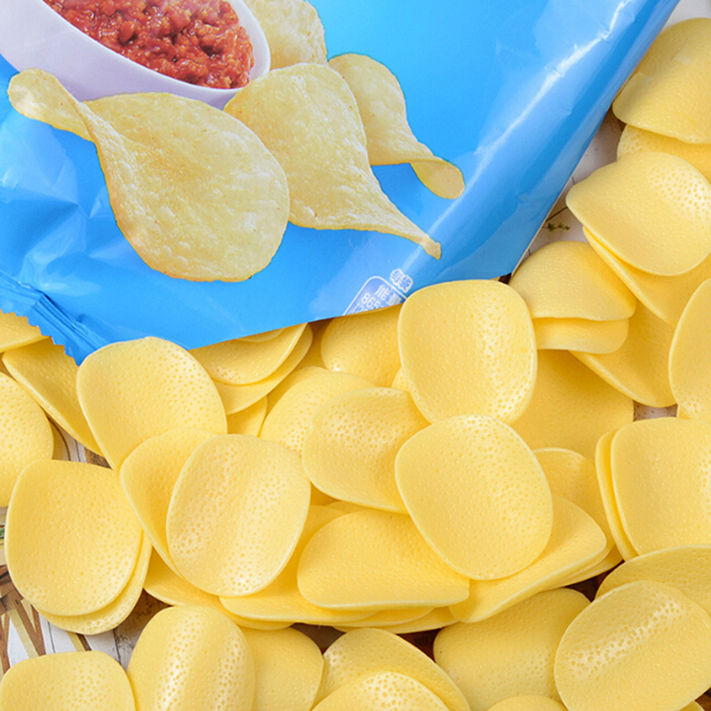 10pcs/lot Cute Mini Resin Potato Chips Simulation Food For Accessories Kitchen Play Toys Crafts Diy Home Wedding Decoration