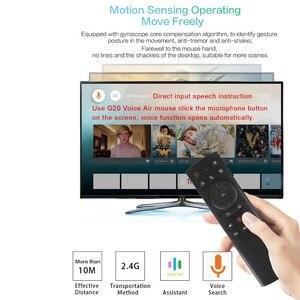 Image 5 - Беспроводная воздушная мышь KEBIDU G20S 2,4G гироскоп Голосовое управление зондирование универсальная мини клавиатура Пульт дистанционного управления для ПК Android TV Box