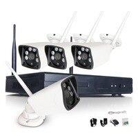 4CH CCTV System Wireless 1080P NVR 4PCS 2 0MP IR Outdoor P2P Wifi IP CCTV Security