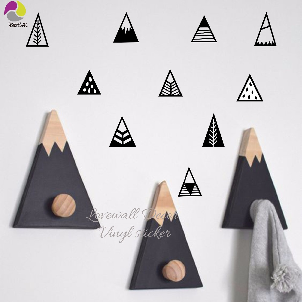 Nordic Style Mountain Wall Sticker Children Room Hill Pegantinas Wall Decal Kids Room Diy Easy