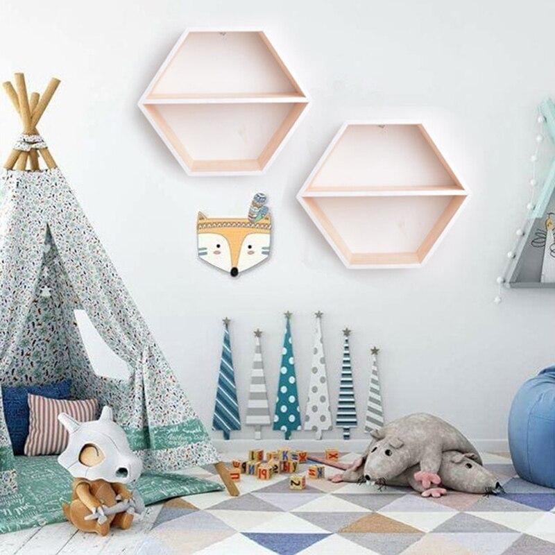 Ins Nordischen Stil Holzregal Honeycomb Hexagon Lagerung Inhaber
