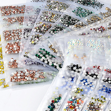 3d Mixed Sizes Nail Rhinestones Decorations Flatback Glass For Nails Crystal Rhinestone Accessories DIY Y003