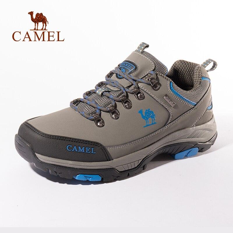 CHAMEAU Femmes chaussures de randonnée En Cuir Mat Durable Anti-Slip Seule Augmentation En Plein Air Respirant Montagne Escalade chaussures de randonnée