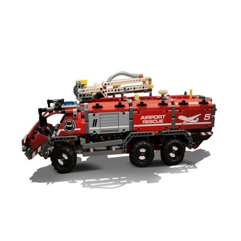 Lepin ABS Building Blocks Mechanical Rescue Fire Truck 1180 Pcs Small Particle Assembled Compatible Brick Toys For Children hm136 57pcs large particle building