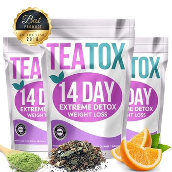 100% Pure Natural Fat Burning Weight Loss Tea 14 Days Colon Cleanse Detox Tea For Man and Women Tea Belly Slimming Tea Teatox