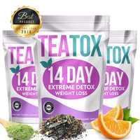 Té para la pérdida de peso Natural puro 100% té para la pérdida de peso 14 días Limpieza de puntos té desintoxicación para hombre y mujer té de adelgazamiento Teatox confía